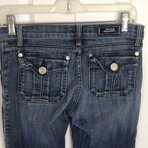 Rock & Republic Womens Blue Jeans Button Pockets